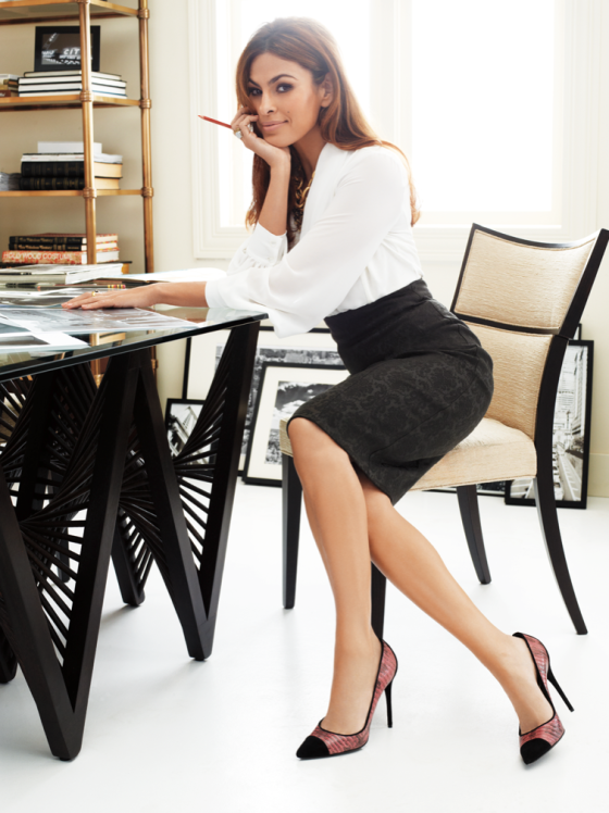 eva mendes hot office secretary #pencil #skirt #legs #high #heel s