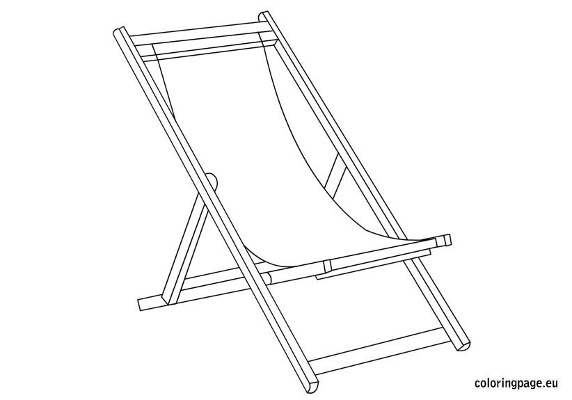 Deckchair Coloring Page Deck Chairs Coloring Pages Color