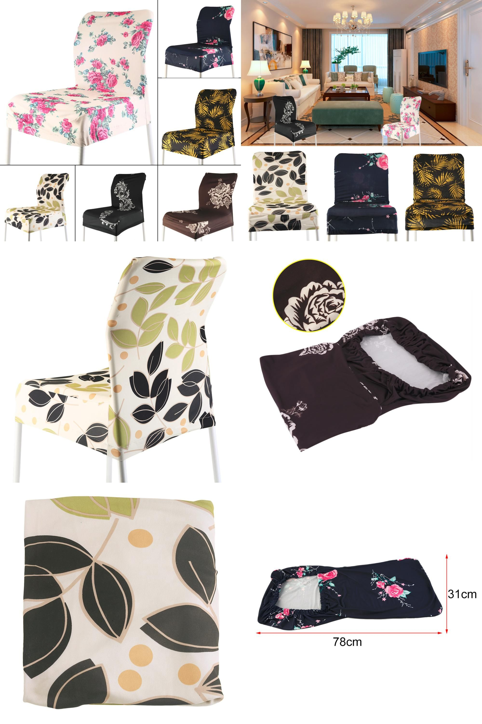 Visit to Buy 6 Colors Various Printed Fashion Home Chair Cover