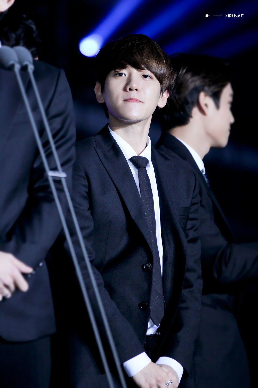 Baekhyun - 141221 2014 SBS Gayo Daejun Credit: Minor Planet. (2014 SBS 가요대전)