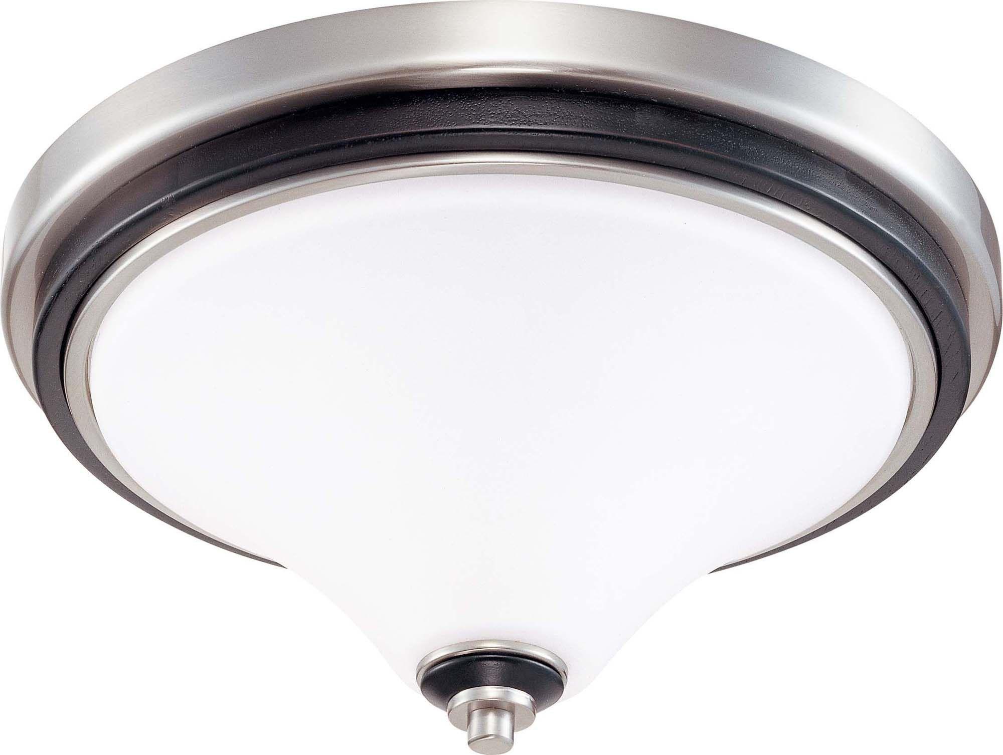 Nuvo Keen - 2 Light 13 inch Flush Dome w/ Satin White Glass
