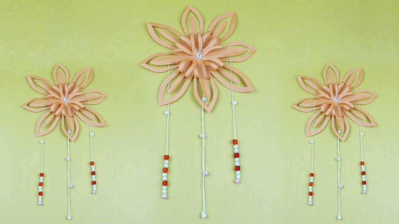 How To Make Origami Wall Decoration With Flower Beads
