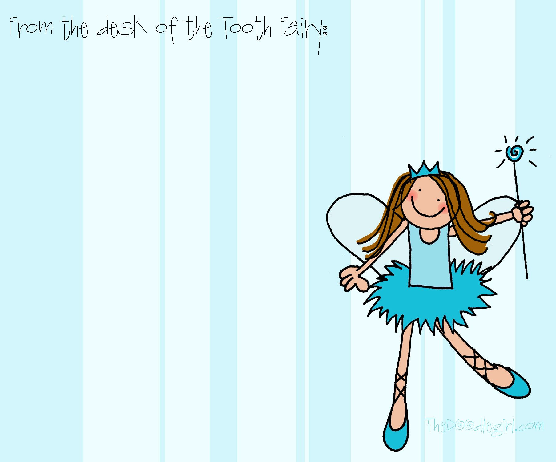 My amazingly talented creative friend rebekah sellers for Free printable tooth fairy letter template