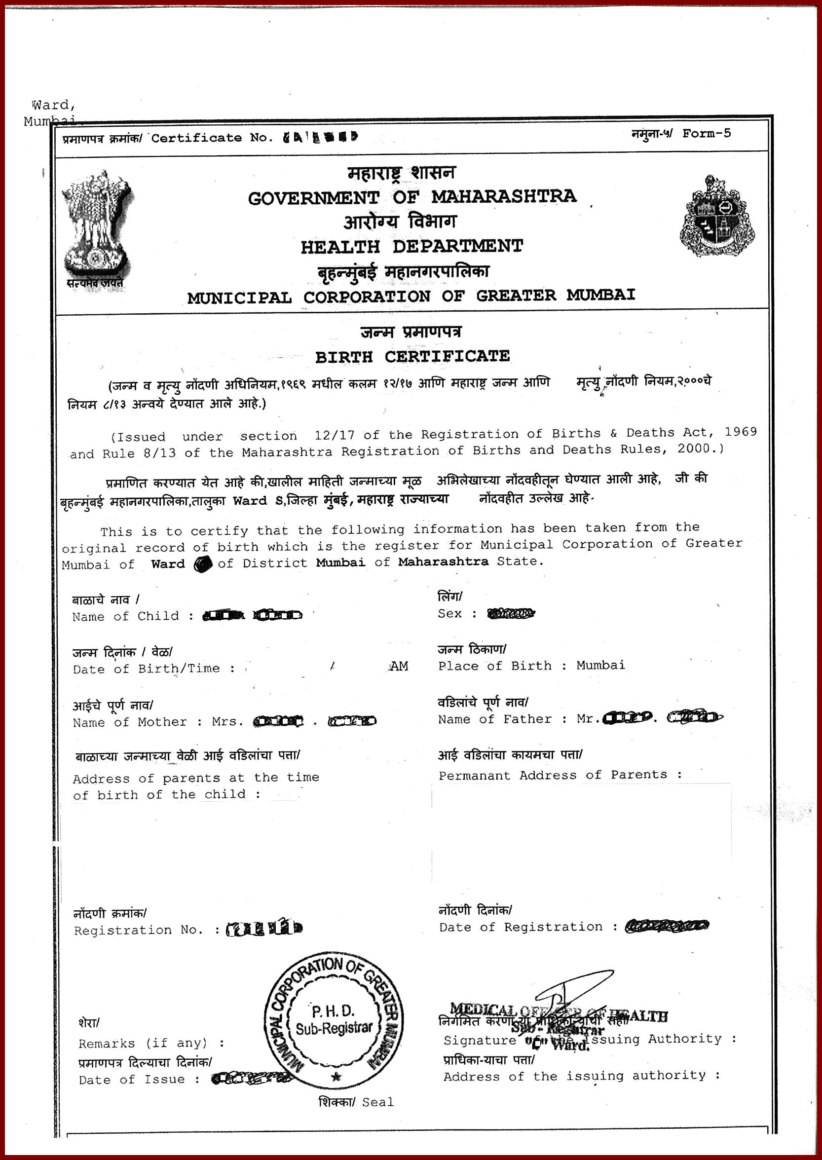 Top best birth certificate application ideas pinterest form online sample birth certificate 11 sample of birth certificate sendletters info copy bmc mumbai is yelopaper Image collections