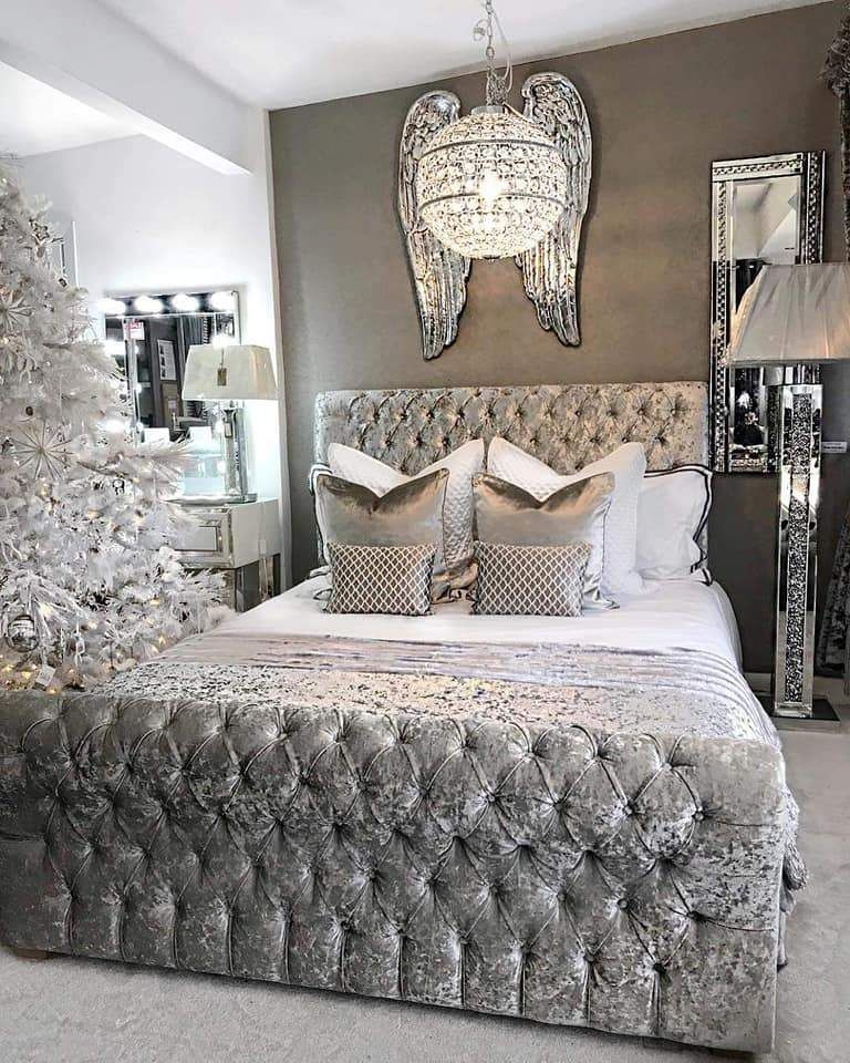 Dicaprio Sleigh Crushed Velvet Bed Crushed Velvet Bedroom Ideas Velvet Bed Frame Crushed Velvet Bed