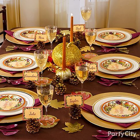 amazing thanksgiving tablescapes supplies shop all table decorations shop all thanksgiving invitations - Thanksgiving Dinner Table Ideas