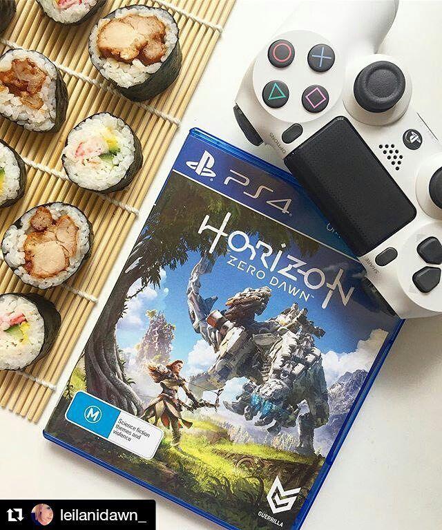 Have you played Horizon ? Credit @leilanidawn_  #horizon #ps4 #game #like #follow #Playstation #horizongame #videogaming #pscontroller #sushi