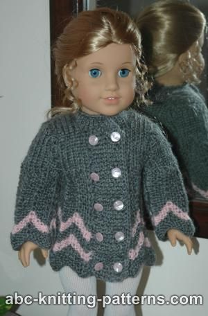 Free knitting pattern for an American Girl 18\