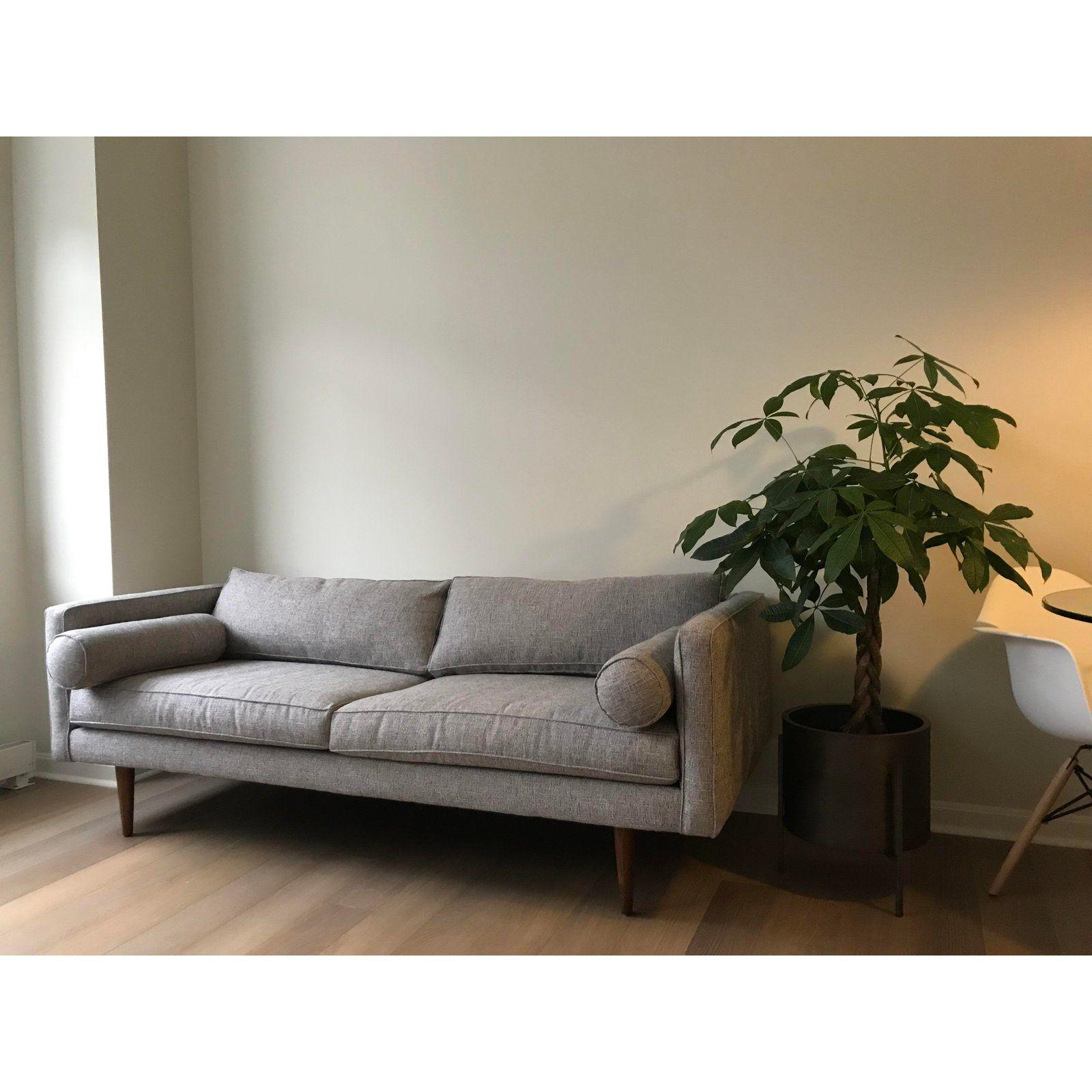 Mid Century Style Light Grey Sofa For Sale In Pittsburgh Image 6 Of 6 Gray Sofa Mid Century Sofa Grey Mid Century Sofa
