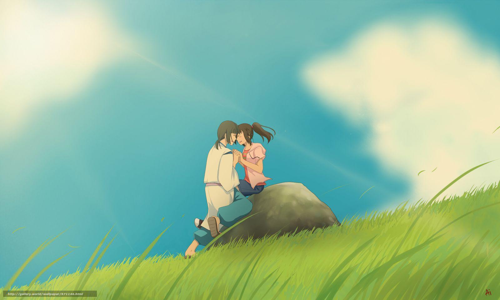 Anime Hayao Miyazaki Chihiro Arte Spirit River Picareta