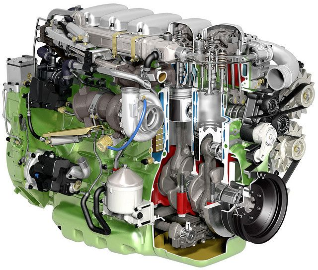 Vw Motor Group: Scania 270 Hp 9-litre Ethanol EEV Engine Cutaway By Scania