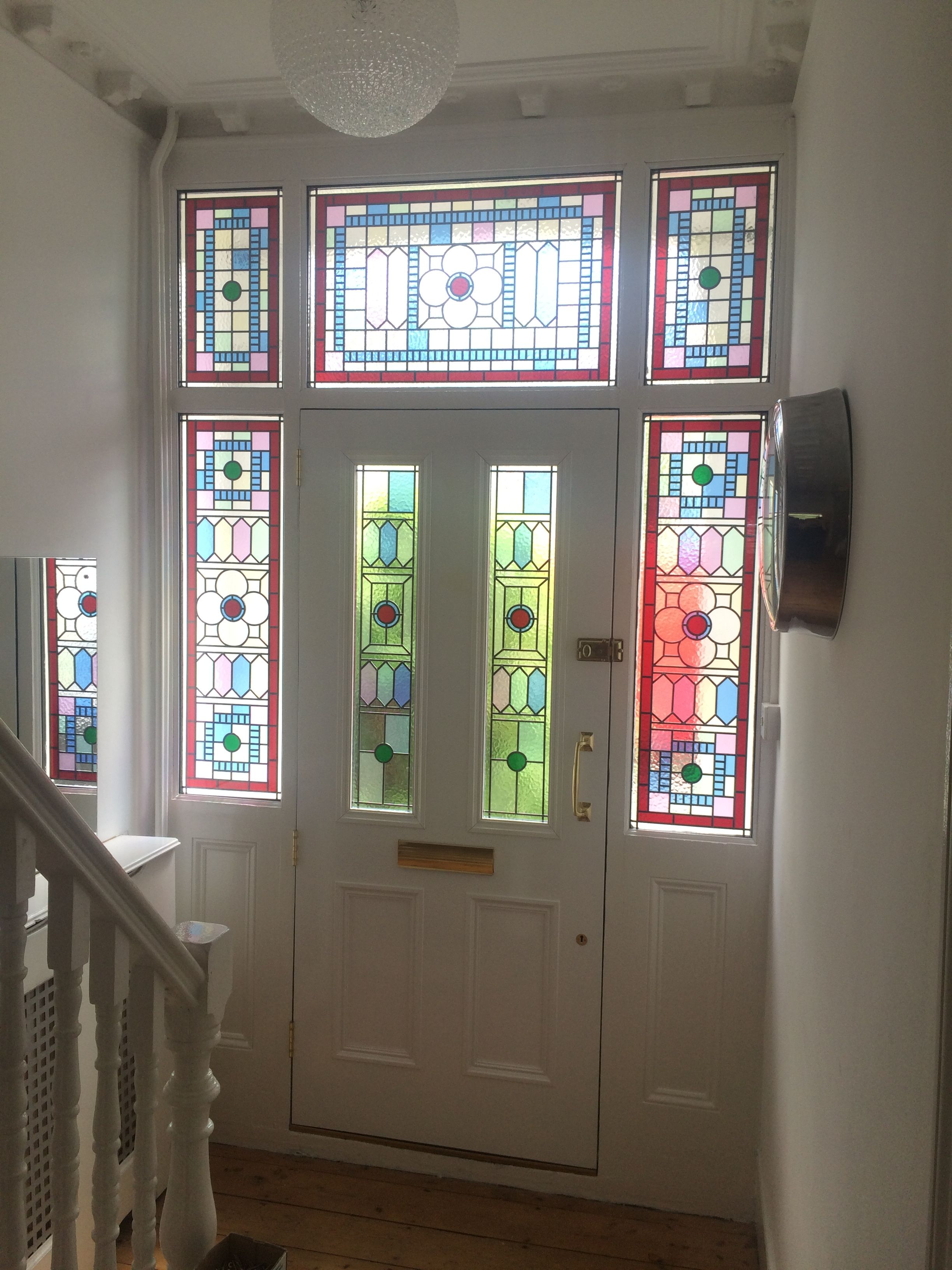 Solid Wood Victorian Front Door With Stained Glass Dream Home