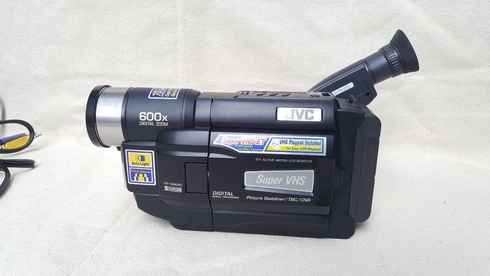 Jvc Gr Sxm240u Compact Vhs Camcorder W Bag Charger Battery Videocassette Jvc Camcorder Ebay