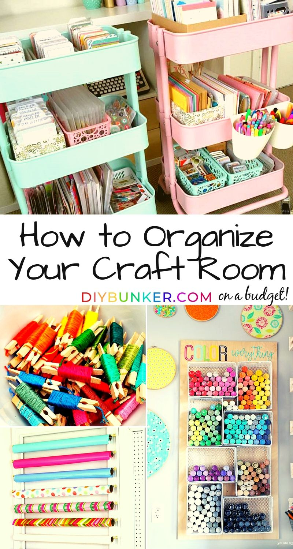 Craft Room Organization Ideas 16 Ways To Store Supplies Craft Room Organization Diy Craft Room Design Craft Organization Diy