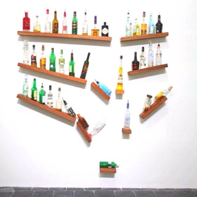 Best liquor shelf liquor bottle displays pinterest for Diy liquor bar