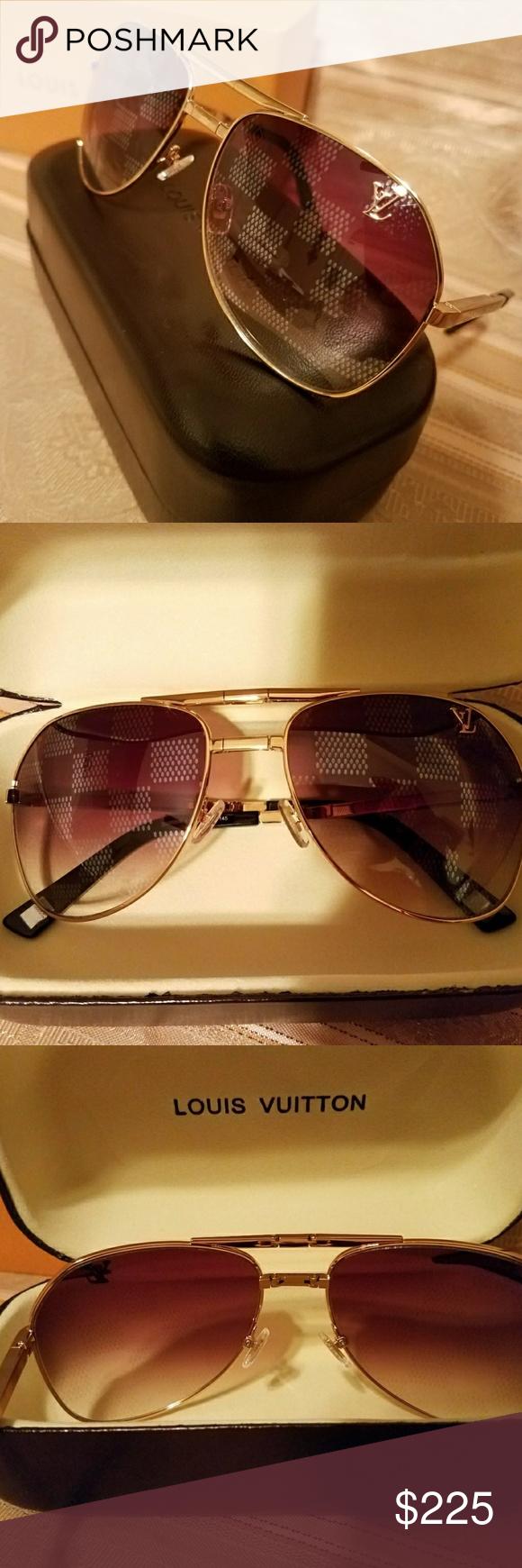 cc6a427debdf LOUIS VUITTON ATTITUDE PILOT Sunglasses AUTHENTIC LV ATTITUDE PILOT  Sunglasses NEW INCLUDES CASE BOX MICROFIBER CLOTH Louis Vuitton Accessories  Glasses