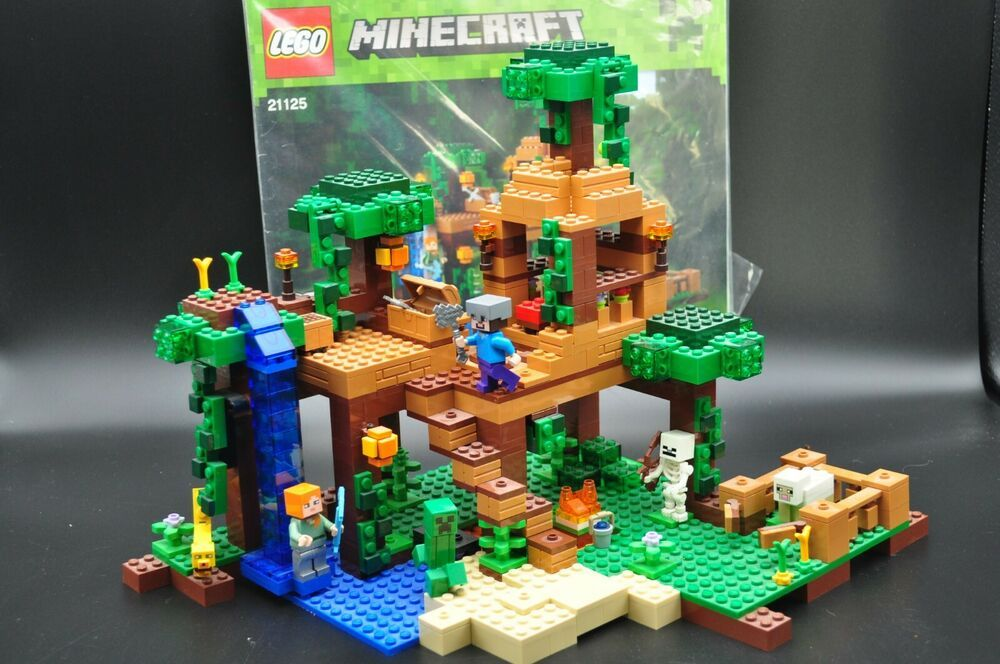 Lego Minecraft 21125 The Jungle Tree House Complete With Manual