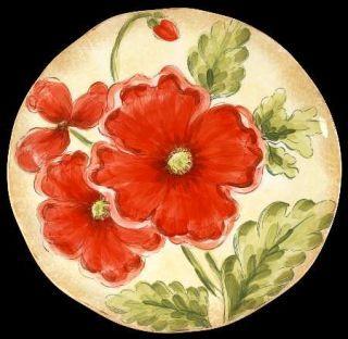 Maxcera Corp Poppies Dinner Plate, Fine China Dinnerware Red Flowers ...