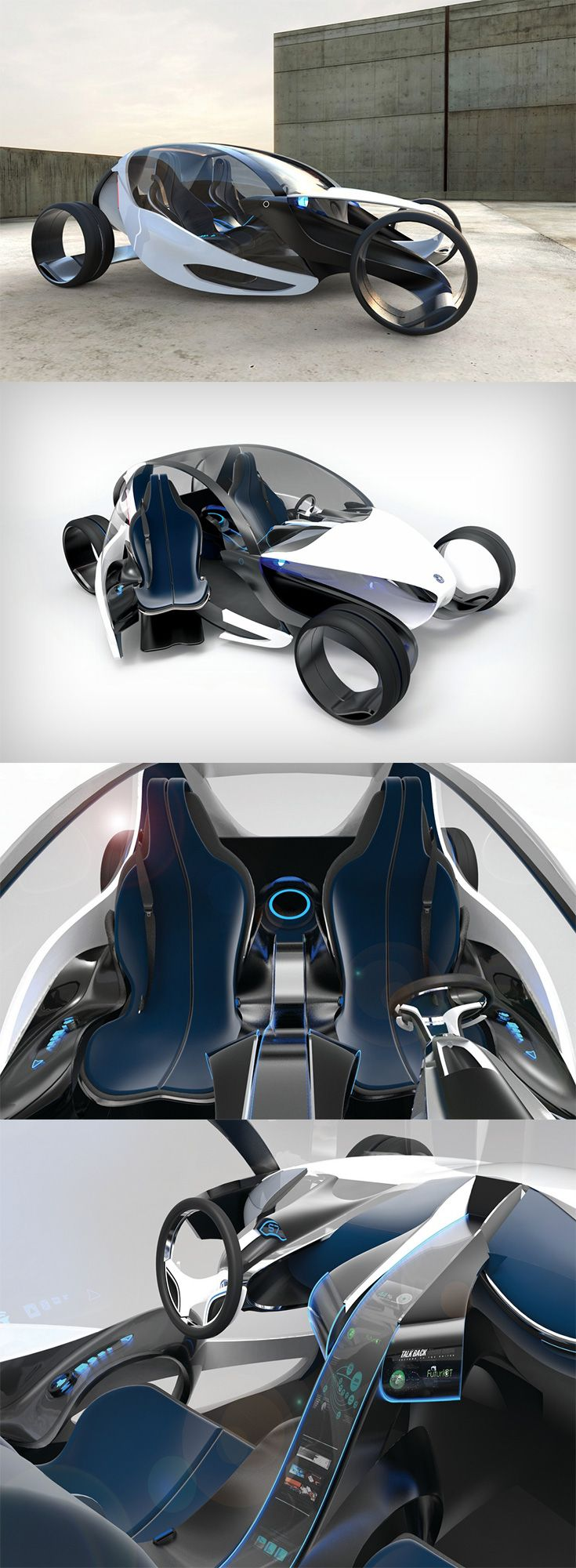 The 'E-legance' shows innovative thinking of a product experience even though it is a futuristic design, like the Opel-H the innovation lies in the doors of the vehicle...READ MORE at Yanko Design !