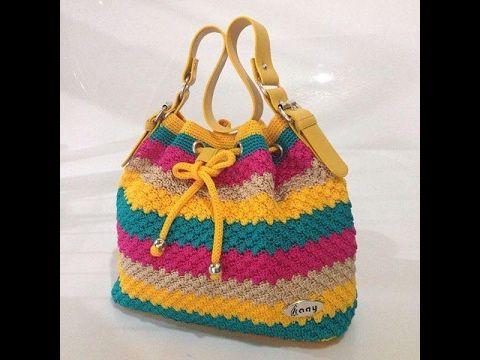 cartera modernas tejidas a crochet - YouTube Carteras tejidas