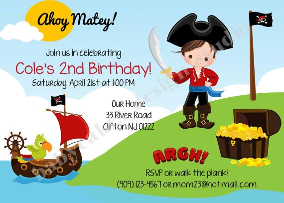 Pirate invitation pirateparty piratebirthday piratebirthdayparty pirate invitation pirate birthday invitation invite sibling birthday birthday photo picture printable diy digital by jcbabycakes on etsy filmwisefo