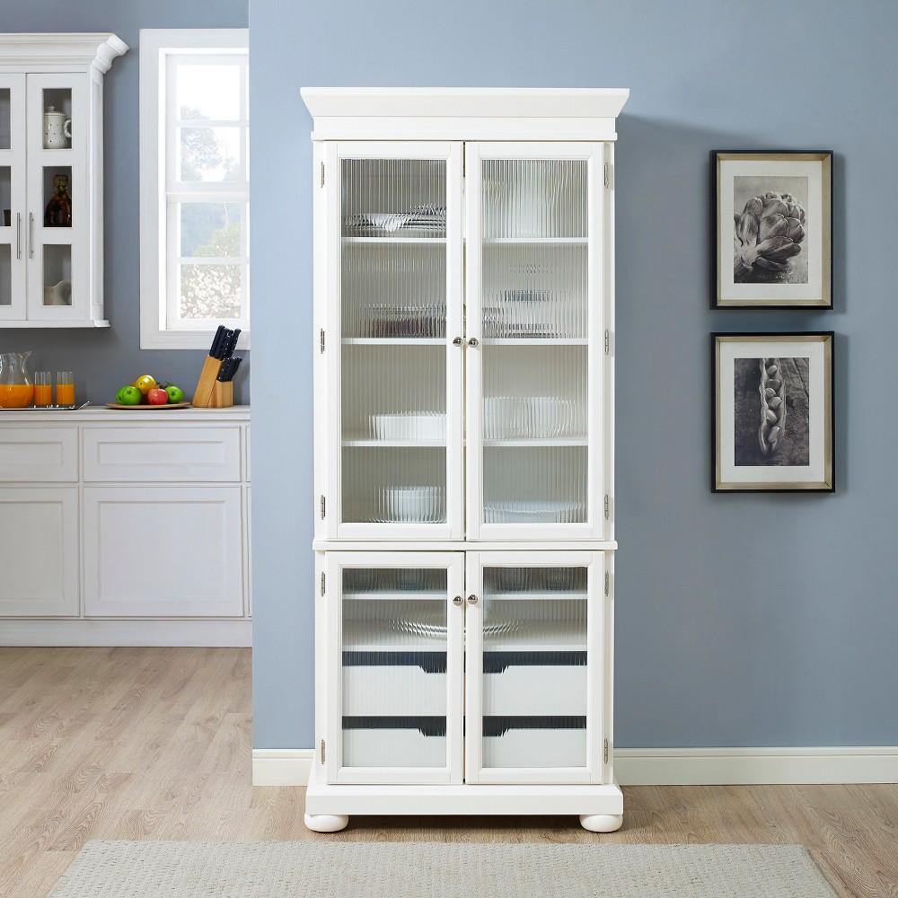 Alexandria Kitchen Pantry White Crosley White China Cabinets