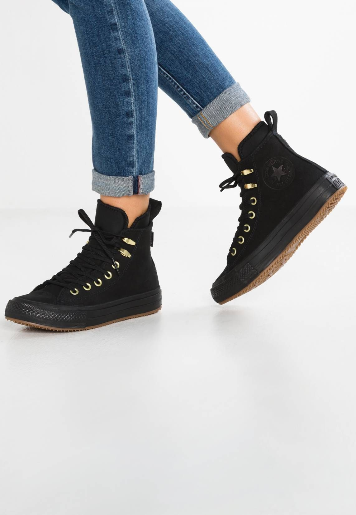 d57120a4462 Converse. CHUCK TAYLOR ALL STAR WP BOOT - Sneakers hoog - black/brass.