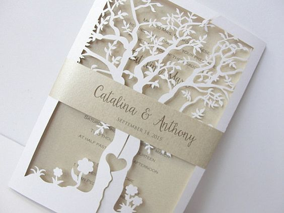 Tree Themed Wedding Invitations Your Invitation Is Into What Will Be Like The First Glimpse Gue