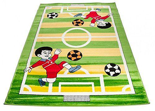 Fußball Teppich für das Kinderzimmer. Dieser Spielteppich