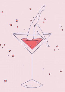lets drink - pink martini | Displate thumbnail