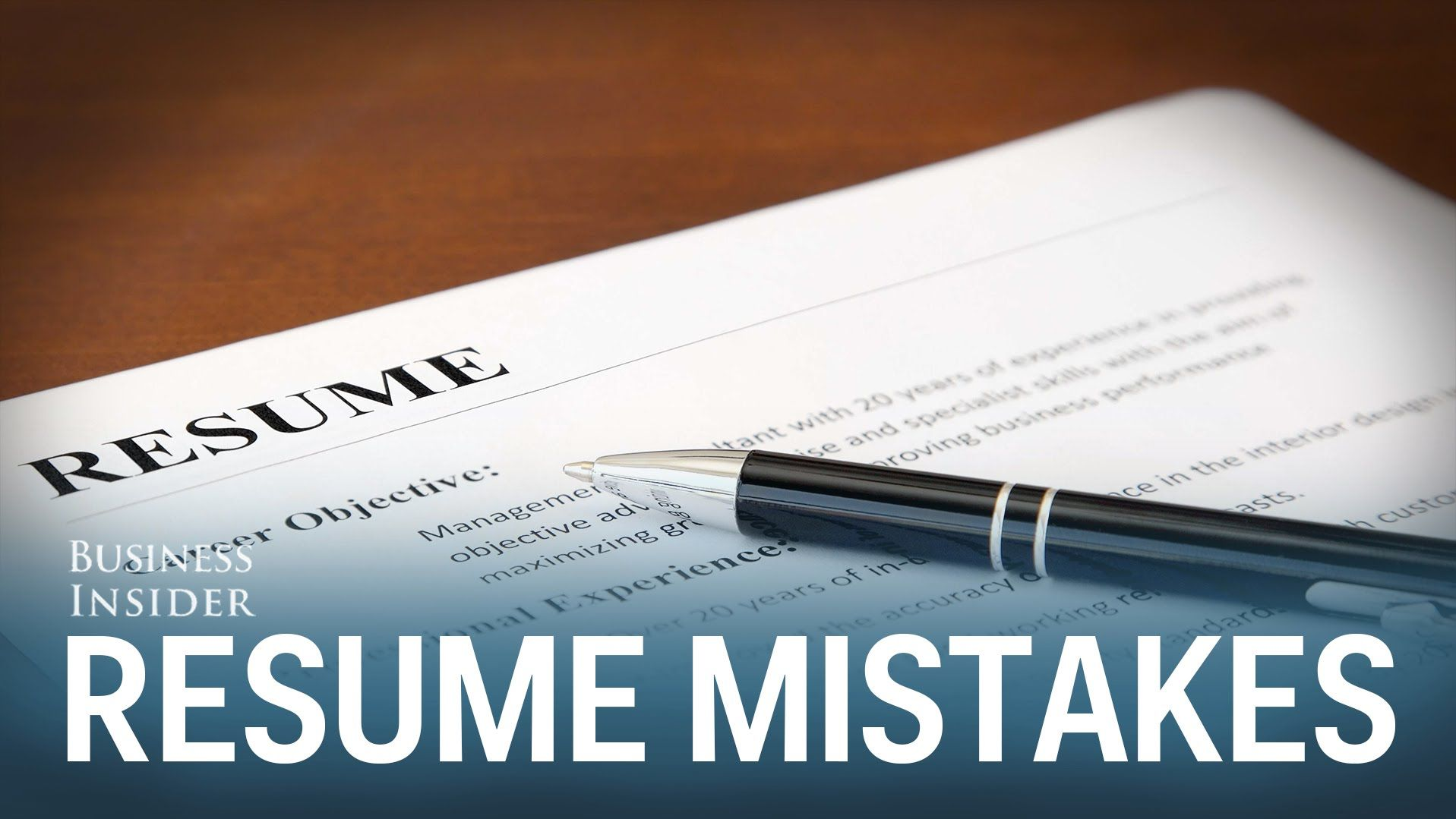 Dont do these things on a resume check out these common