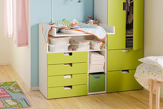 Ikea Stuva Storage Combination With Changing Table That Can Be Swed To A Desk Later