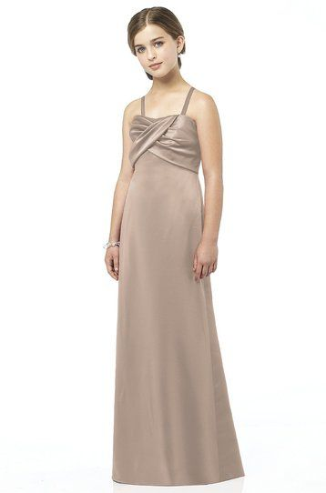 fb92146a1 After Six - Beige / Sand Junior Bridesmaid Dress Renaissance Satin ...