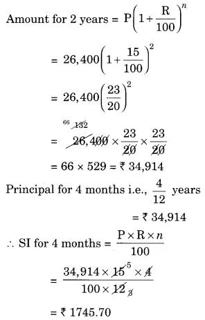 Ncert Solutions For Class 8 Maths Chapter 8 Comparing Quantities Ex 8 3 Ncertsolutions Ncertclass8mathssolutions Class8maths Maths Solutions Class 8 Math