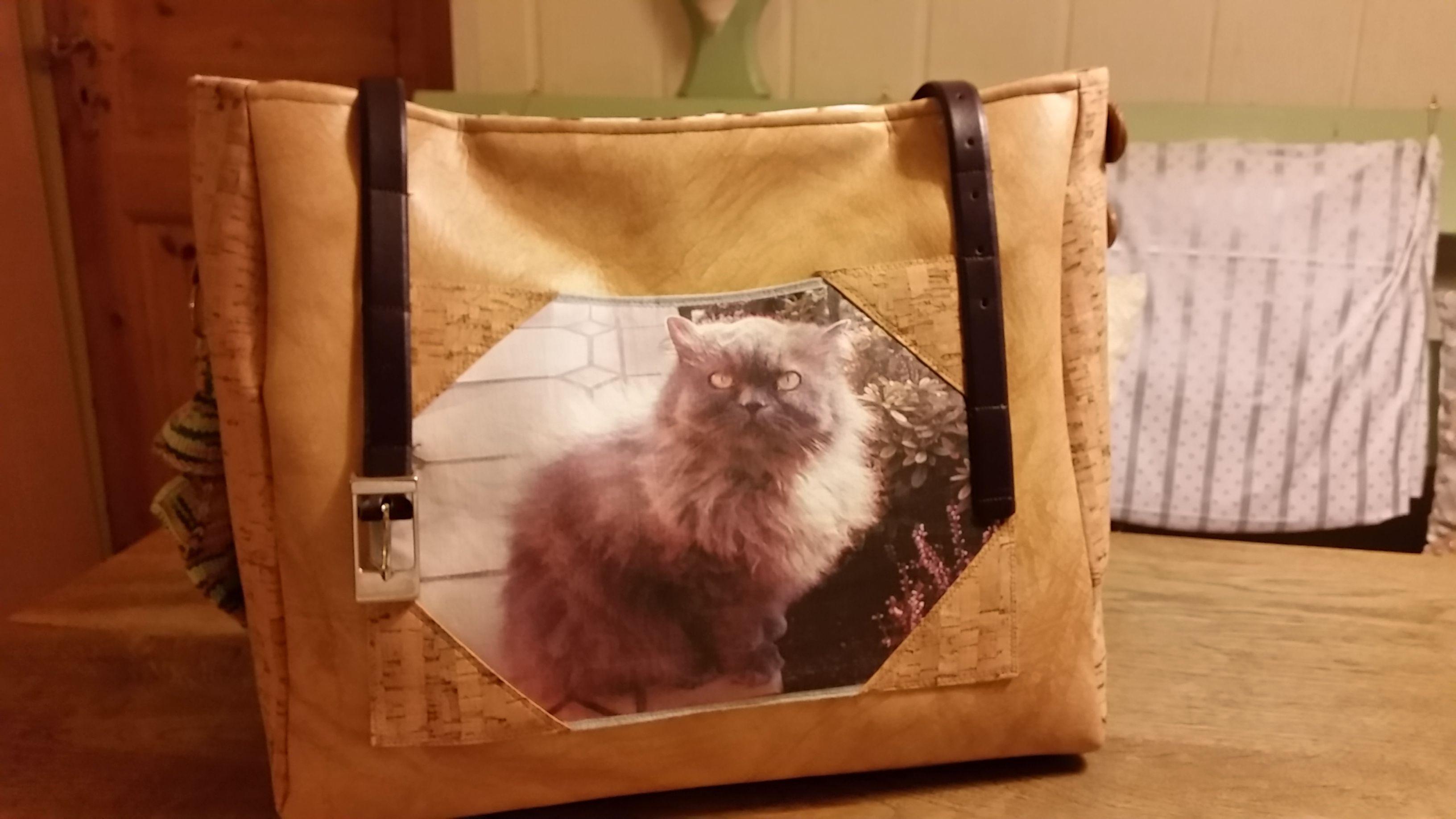 Shopper Tasche mit dem gedrucktem Foto des eigenen Haustieres