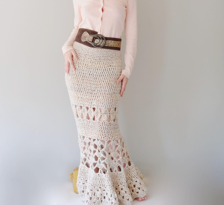 PATTERN For Maxi Skirt / Crochet Long Skirt / Crochet Pattern PDF ...