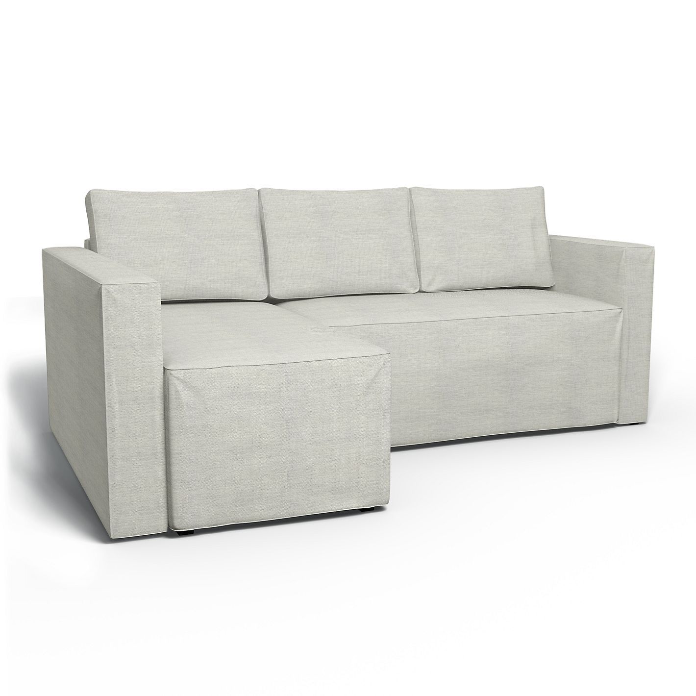 M¥nstad Corner sofa bed with storage left
