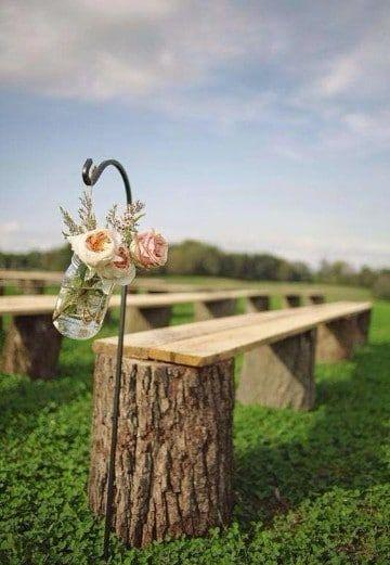 Una hermosa y elegante decoracion de bodas rusticas