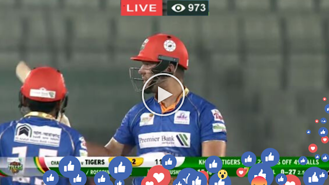 Gtv Live Cricket Match Today Bangabandhu Bpl 2019 20 Chattogram Challengers Vs Khulna Tigers Ga Live Cricket Match Today Cricket Match Sports Tournaments