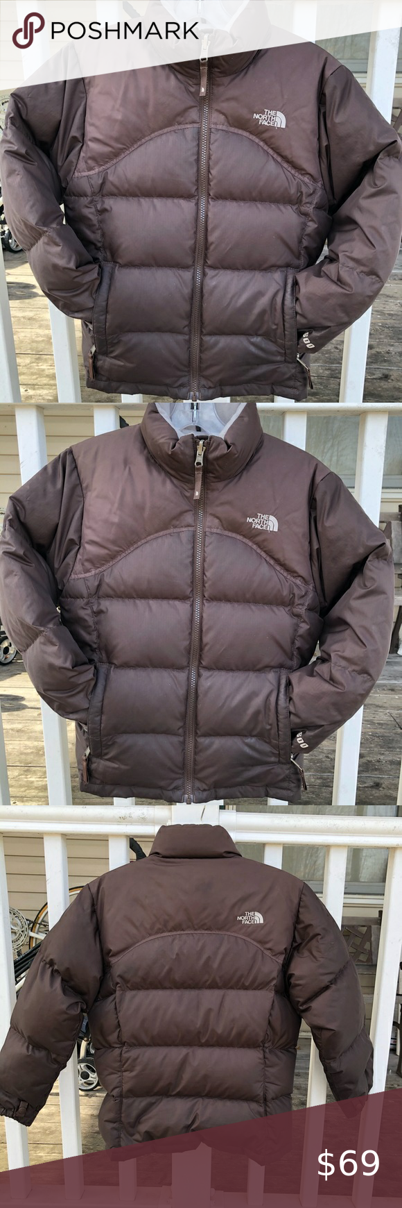 The North Face 600 Puffer Down Girls Brown Coat Brown Coat The North Face Clothes Design [ 1740 x 580 Pixel ]