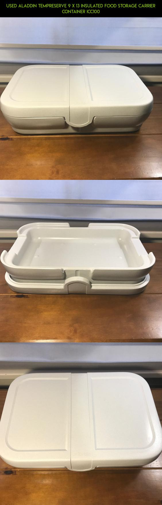 Used Aladdin Tempreserve 9 x 13 Insulated Food Storage Carrier Container ICC100 #plans #gadgets #fpv #camera #9x13 #storage #technology #parts #kit #shopping #drone #racing #tech #products
