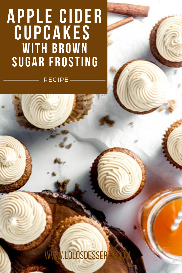 Apple Cider Cupcakes with Brown Sugar Cream Cheese Frosting — Lolo's Desserts