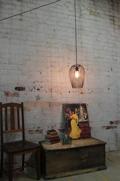 Pendant Light Cord With Wall Plug And Cage Shade