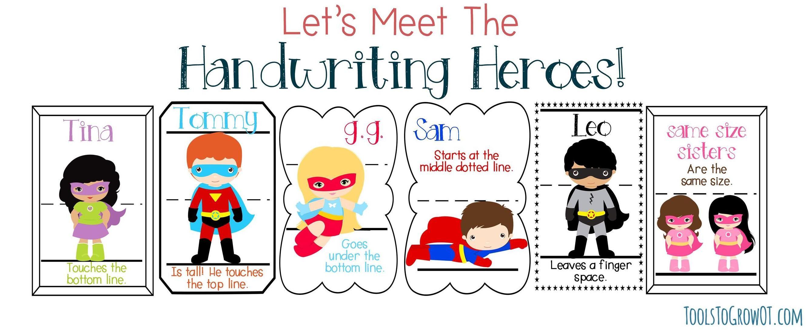 be a handwriting hero pediatric school based ot pt blog posts handwriting analysis. Black Bedroom Furniture Sets. Home Design Ideas