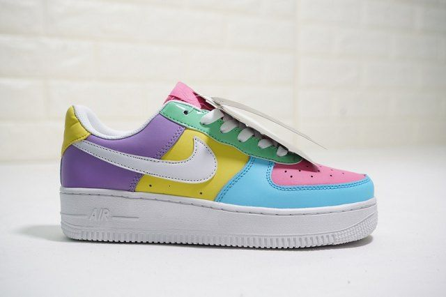 Nike Air Force 1 07 Qs Easter Colorful Cream Ice Blue Sail Ah8462