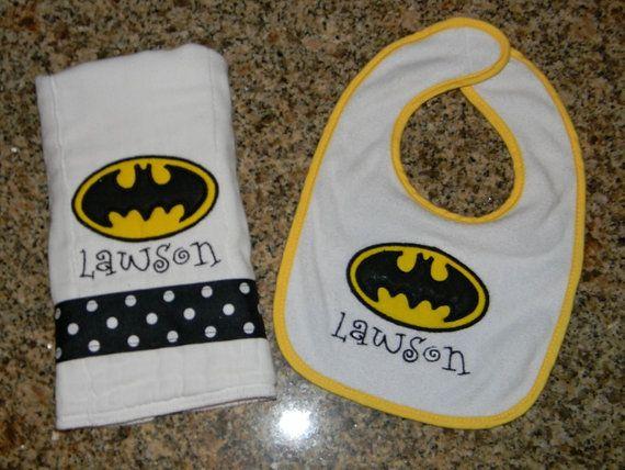 Baby Personalized Burp Cloth Batman