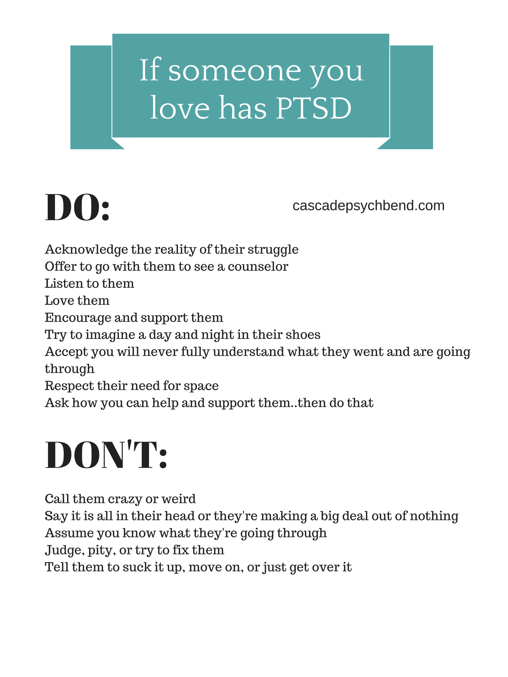 how to love someone with ptsd and things you should not say to