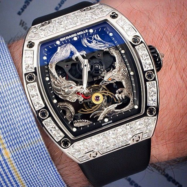 Richard Mille Rm57 01 Phoenix And Dragon Tourbillon Watch Wear