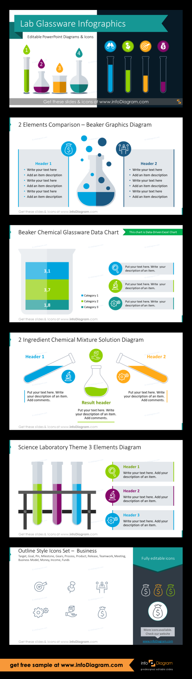 Get 16 Chemical Lab Process test Tubes Diagrams for