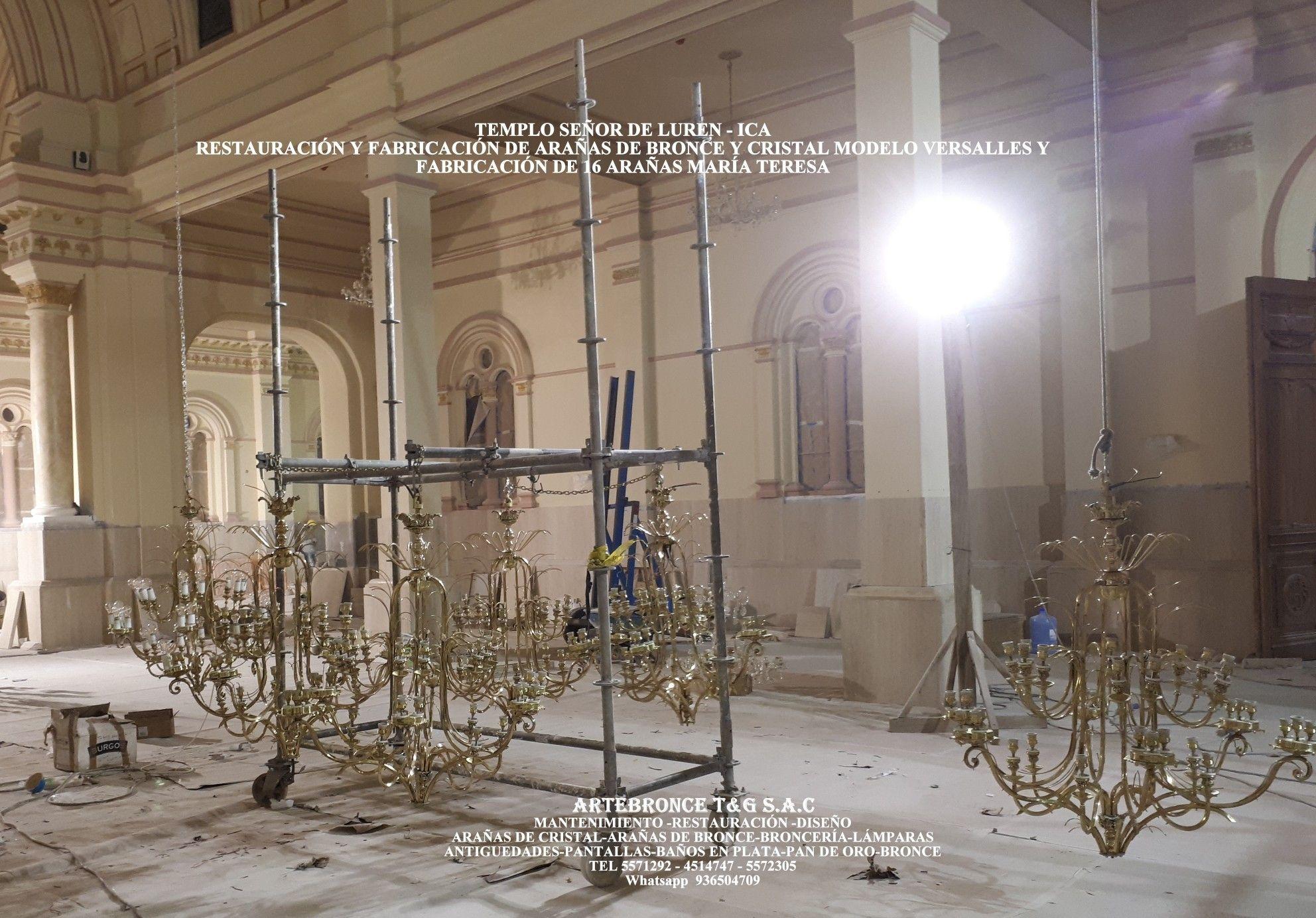 Templo Señor De Luren Ica Restauración Y Fabricación De Arañas Verdalles Y María Teresa Ceiling Lights Decor Chandelier